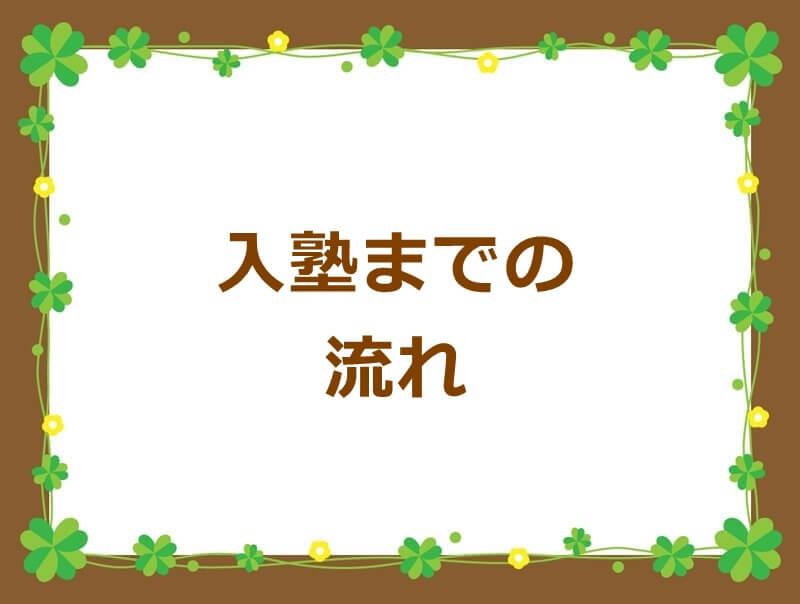 京都市の中学受験学習塾入江塾の入塾までの流れ